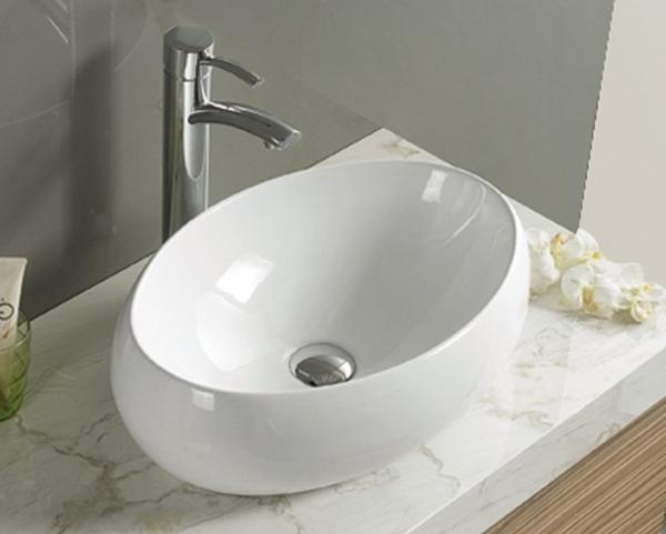 LINDA fehér porcelán mosdó 50 - Porcelán mosdókagyló - Mosdó ...